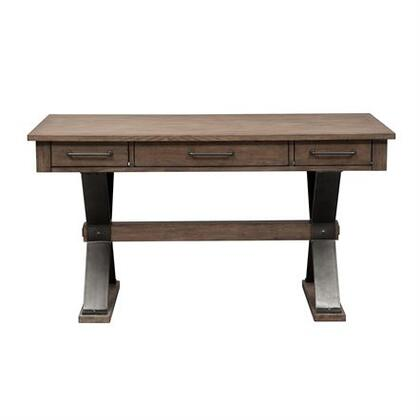 Sonoma Road Collection 473-HO107 Desk with English Dovetail Construction  Full Extension Metal Drawer Glides and Antique Pewter Knob Hardware in