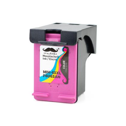 Compatible HP 63XL F6U63AN cartouche encre tri-couleur - haute rendement de HP 63 encre couleur - Moustache