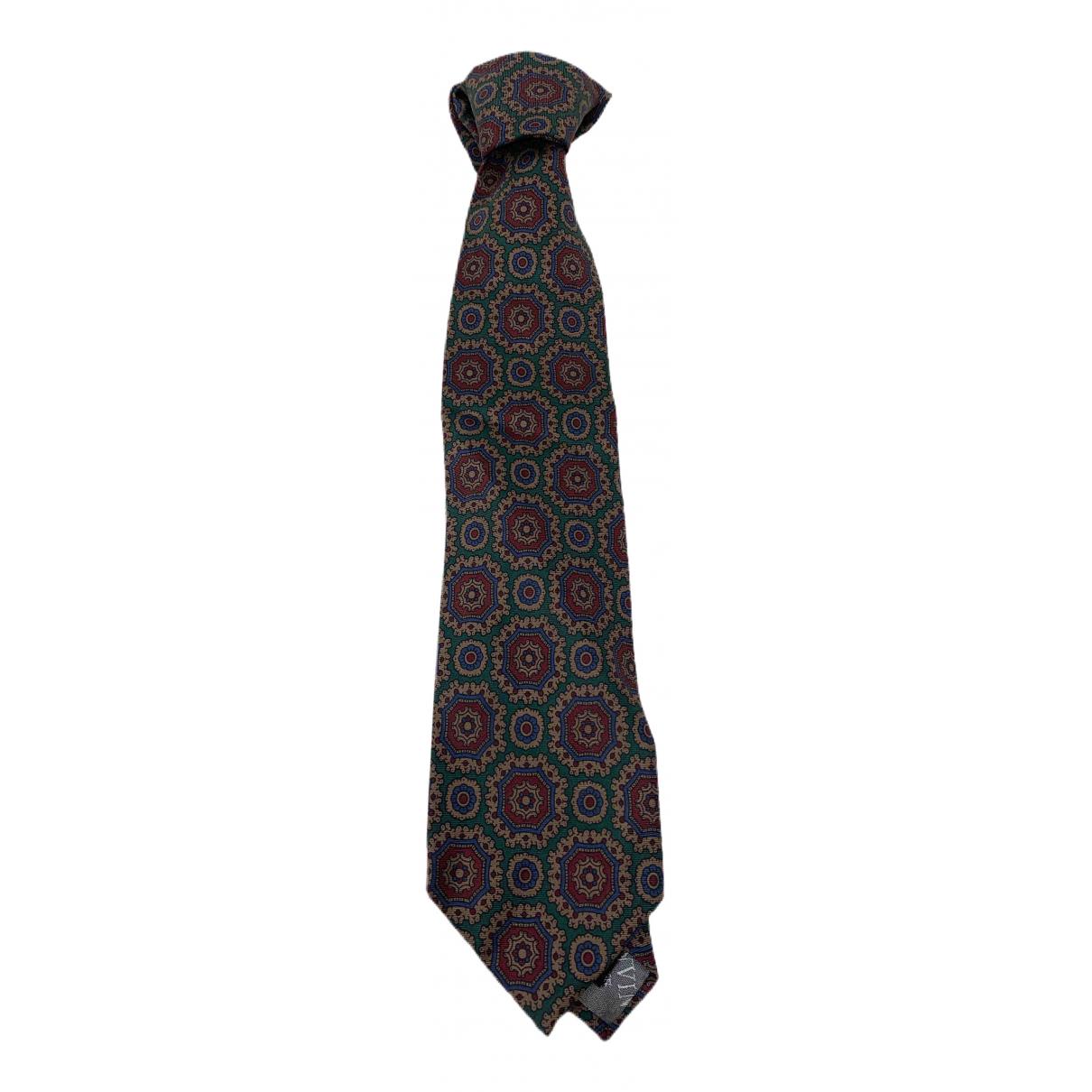 Lanvin \N Krawatten in  Anthrazit Seide