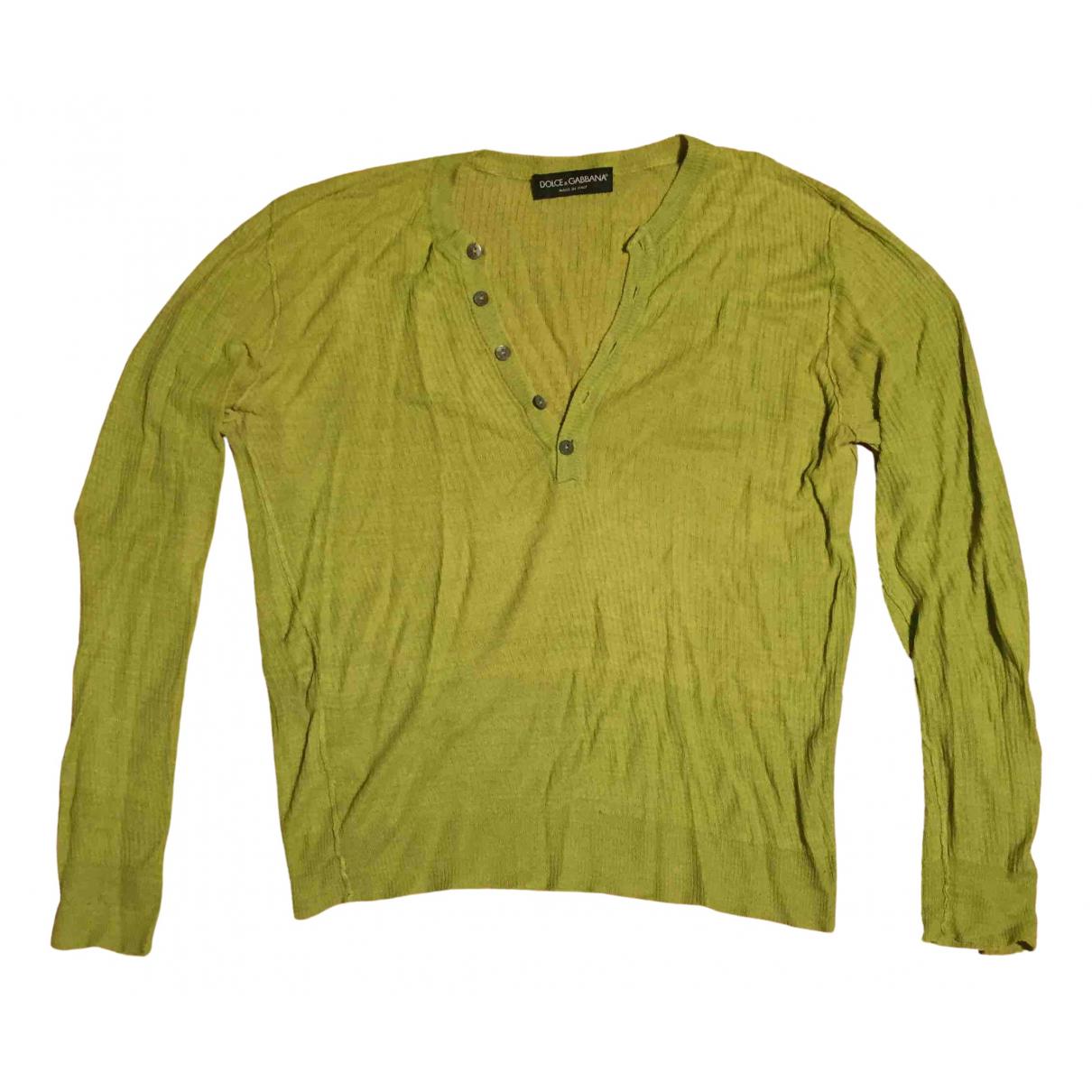 Dolce & Gabbana - Pulls.Gilets.Sweats   pour homme en coton - vert