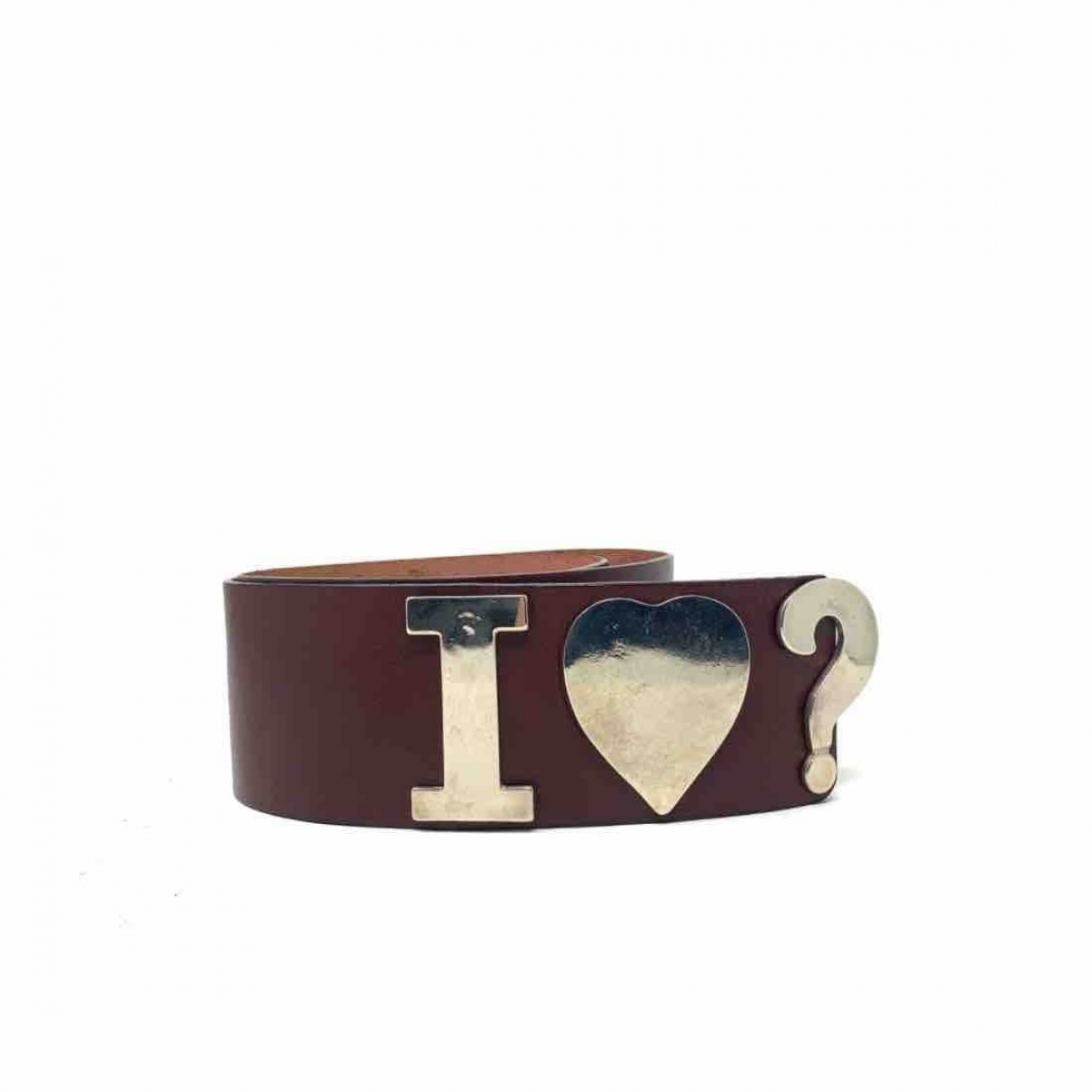 Moschino Love \N Guertel in  Bordeauxrot Leder