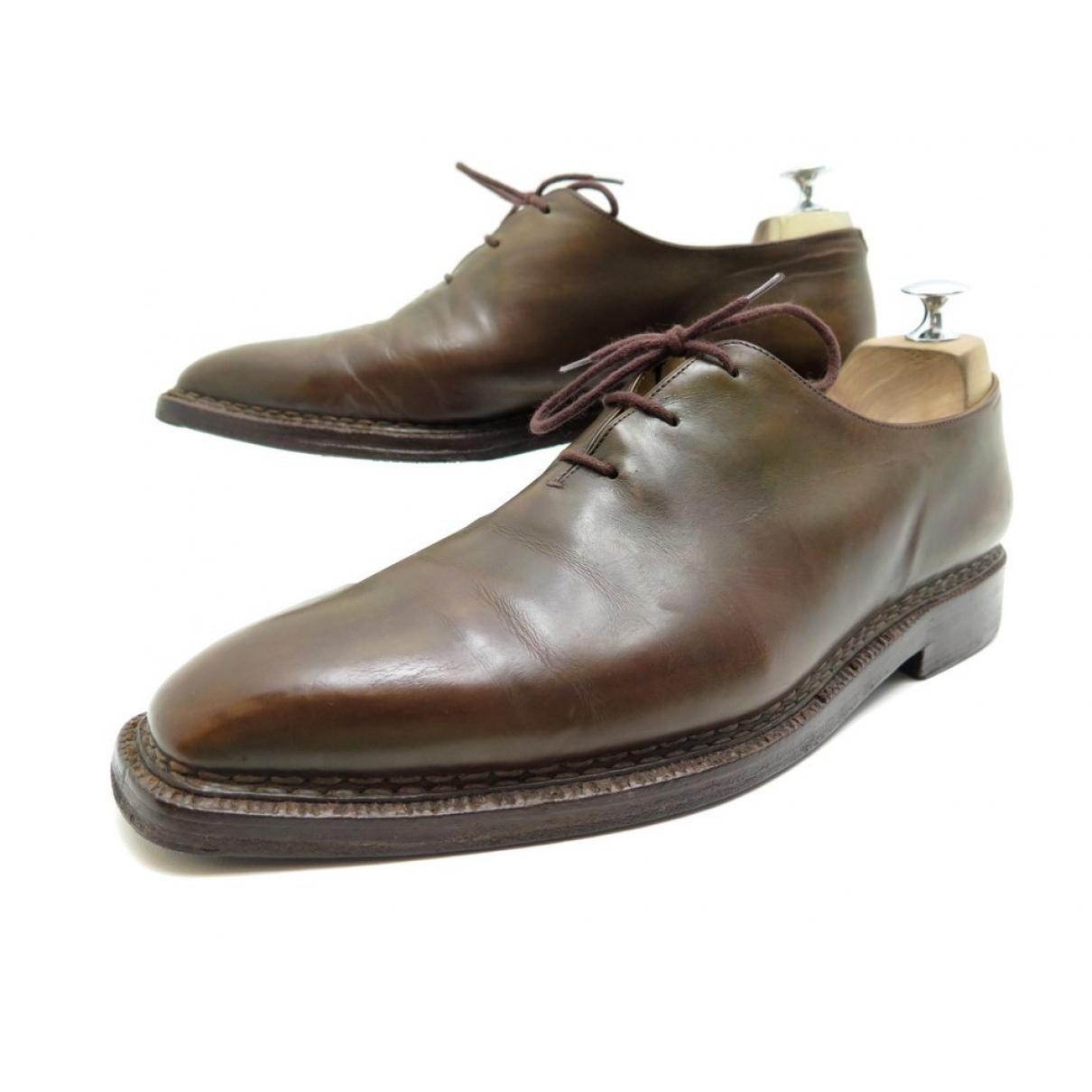 Berluti \N Brown Leather Lace ups for Men 44 EU