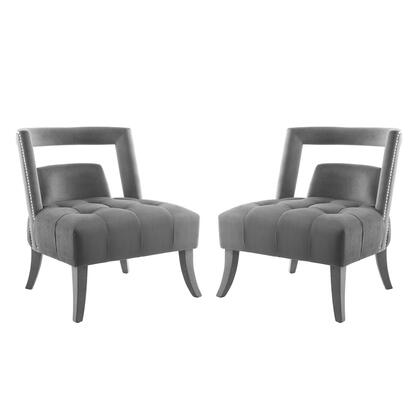 Honor Collection EEI-4486-GRY Armchair Performance Velvet Set of 2 in Gray