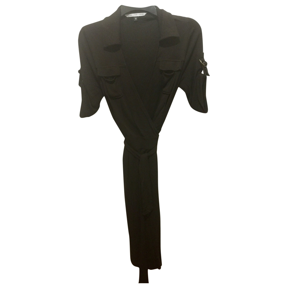 Diane Von Furstenberg \N Kleid in  Braun Viskose