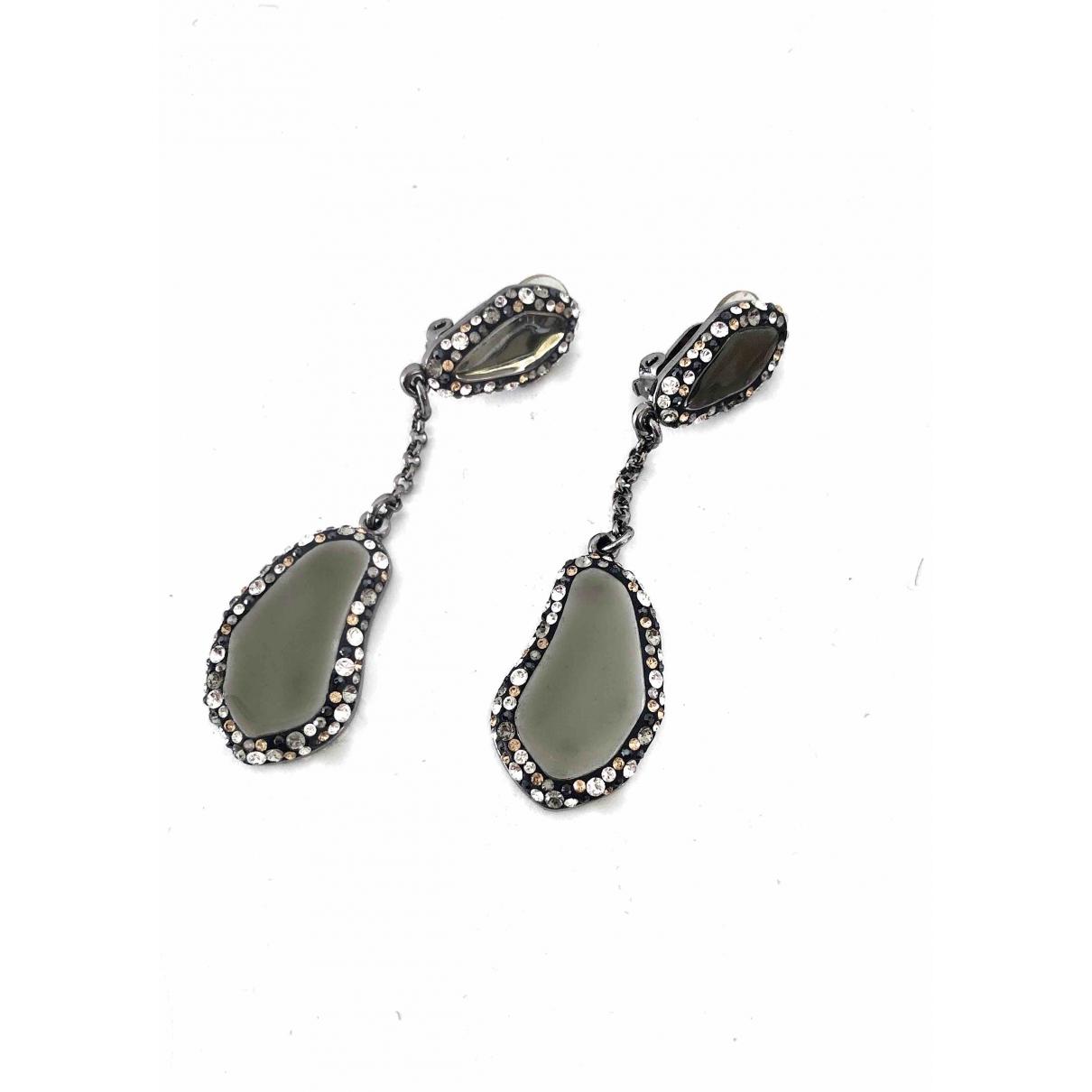 Swarovski - Boucles doreilles   pour femme en cristal - anthracite