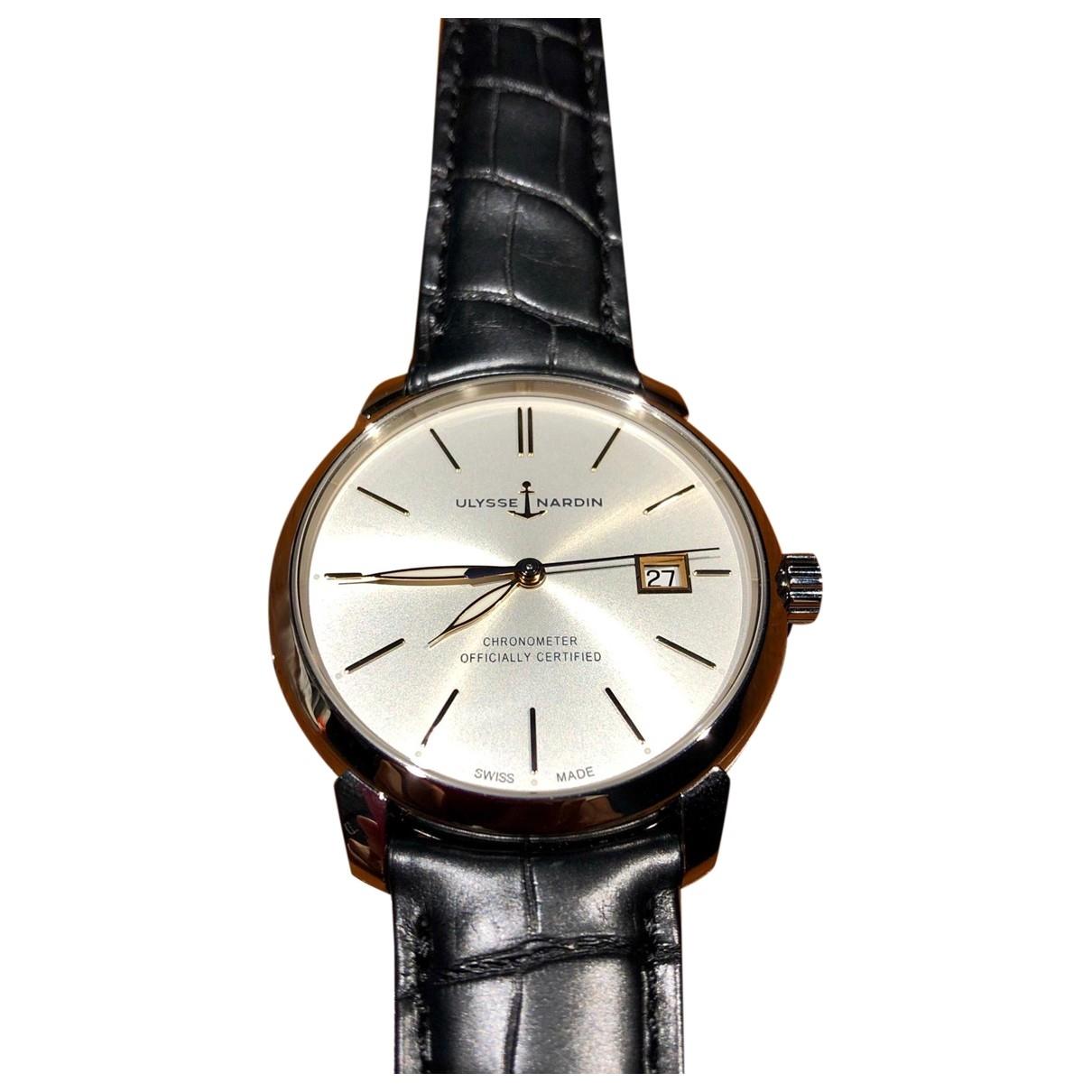 Ulysse Nardin \N Silver Steel watch for Men \N