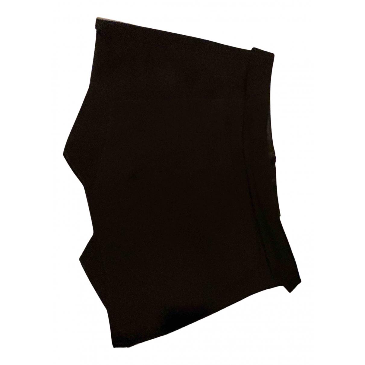 Zara N Black Cotton - elasthane skirt for Women M International