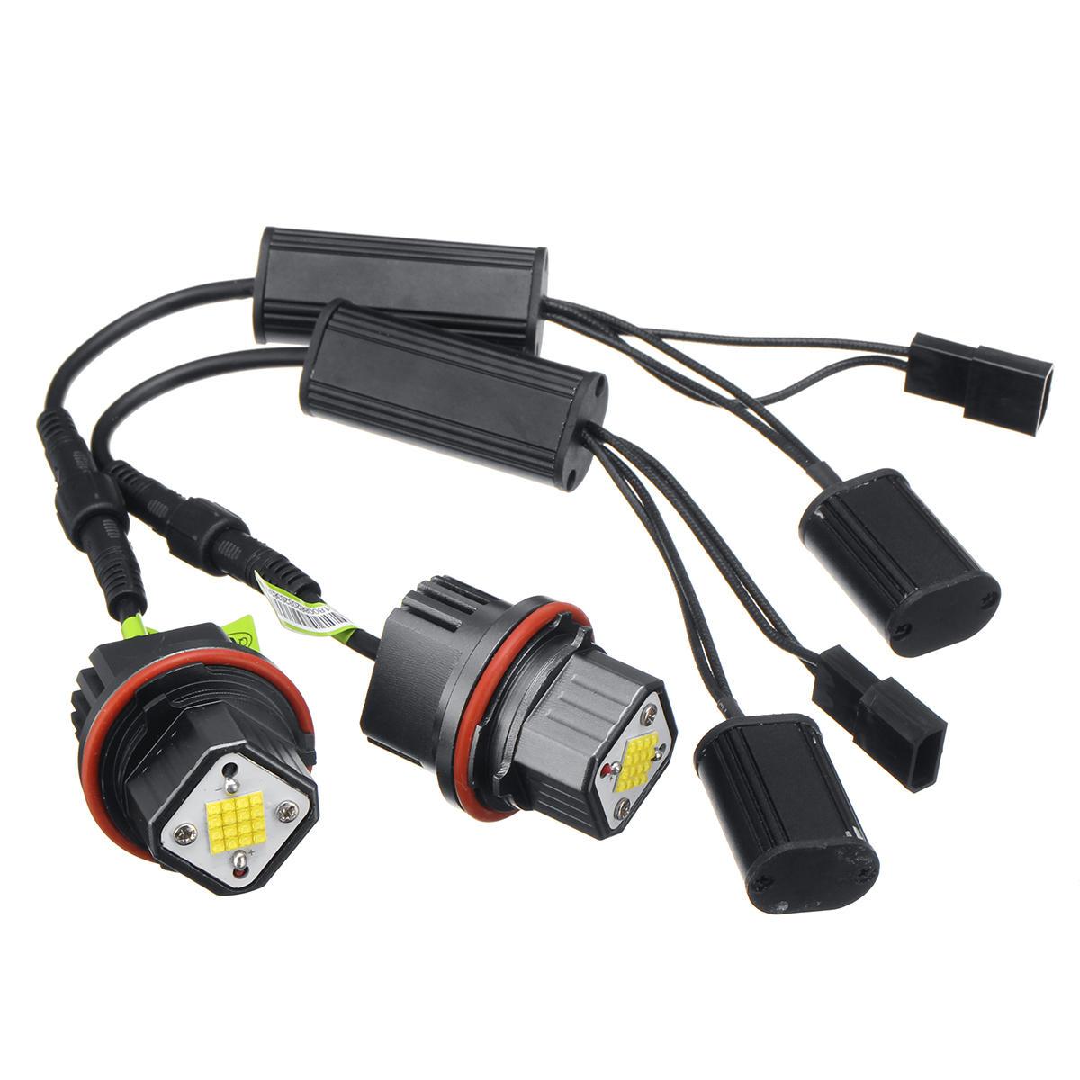 2Pcs E39-K80 18LEDs Car Angel Eyes Lights LED Lamps 160W 5000LM 7000K for BMWE39 E53 E65 E66 E60 E61