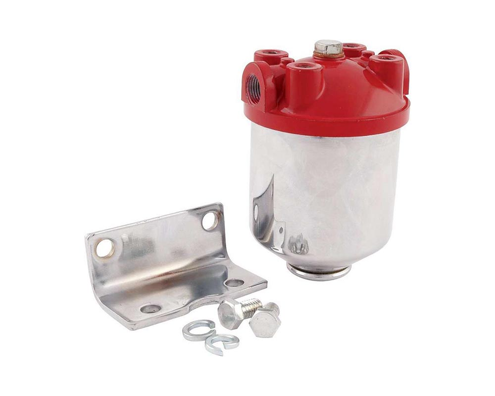 Allstar Performance ALL40250 Fuel Filter Chrome Canister ALL40250