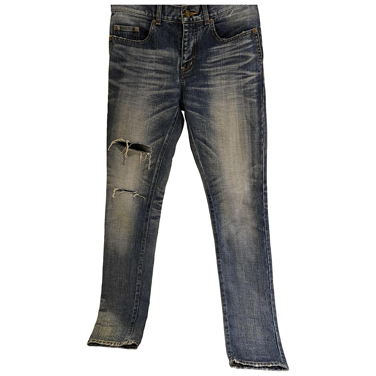 Saint Laurent - Jean   pour homme en coton - bleu