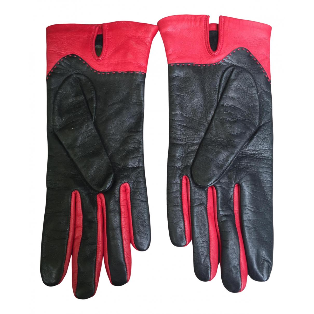 Lancel \N Handschuhe in  Schwarz Leder