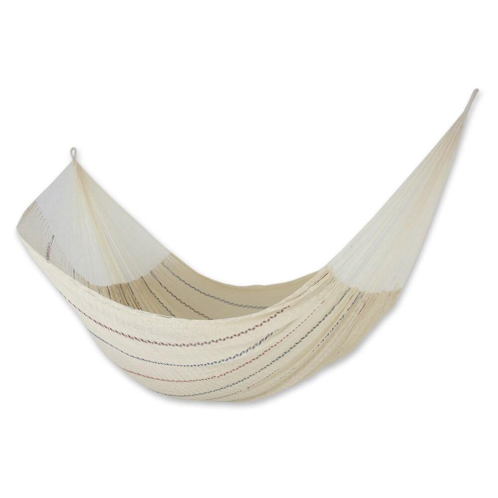 Handmade Cotton 'Sunset Riviera' Hammock (Triple) (Mexico) (Solid)