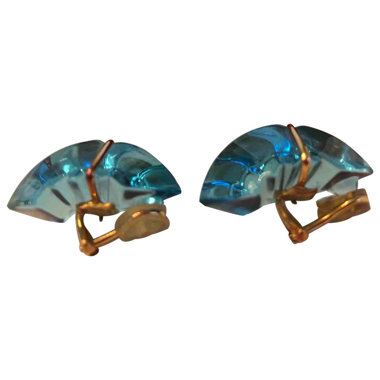 Baccarat - Boucles doreilles   pour femme en cristal - turquoise