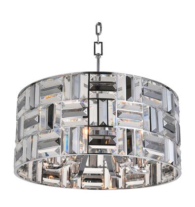 LA19 6-Light Chandelier with Iron Materials and 40 Watts in Chrome