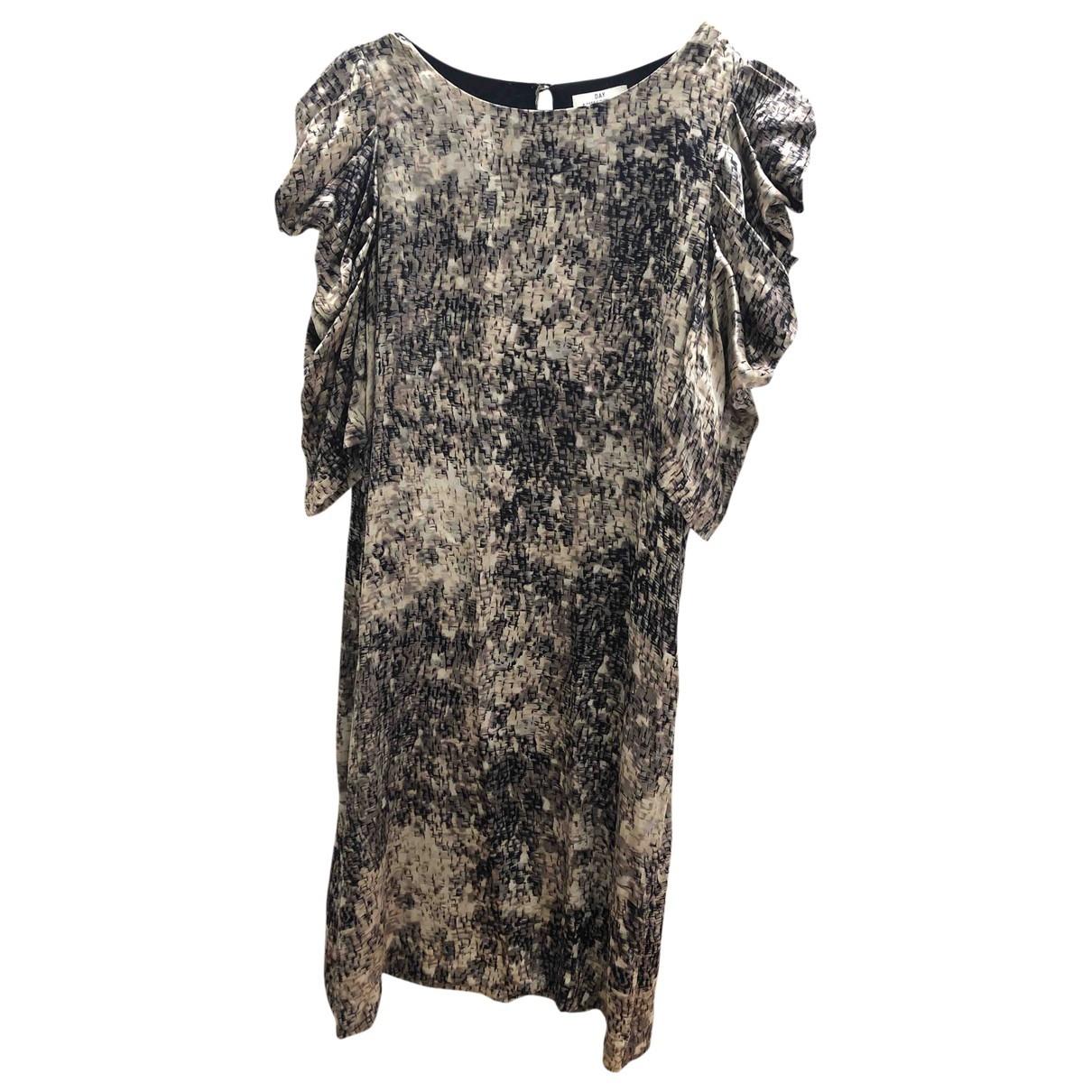 Day Birger & Mikkelsen - Robe   pour femme en soie - gris