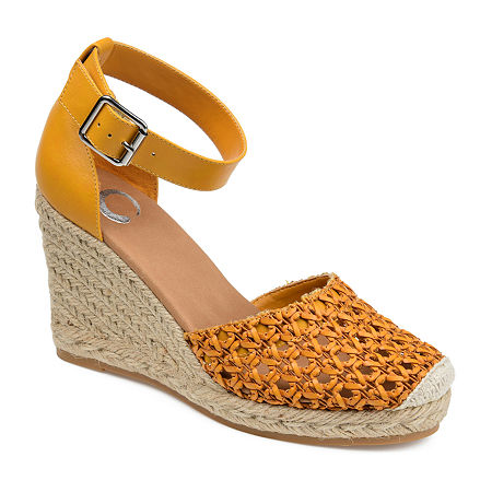 Journee Collection Womens Sierra Pumps Wedge Heel, 7 1/2 Medium, Yellow