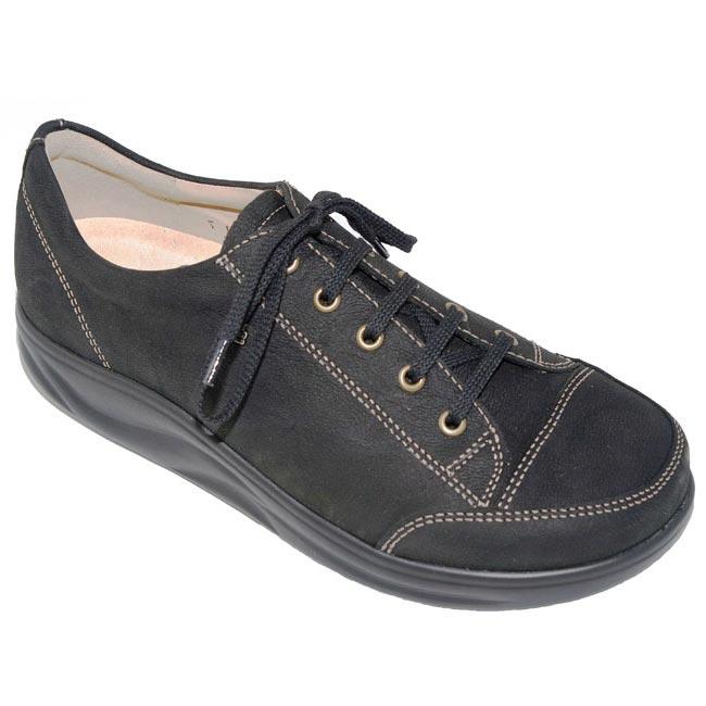 Finn Comfort Ikebukuro Black Nubuck Soft Footbed 45 Uk