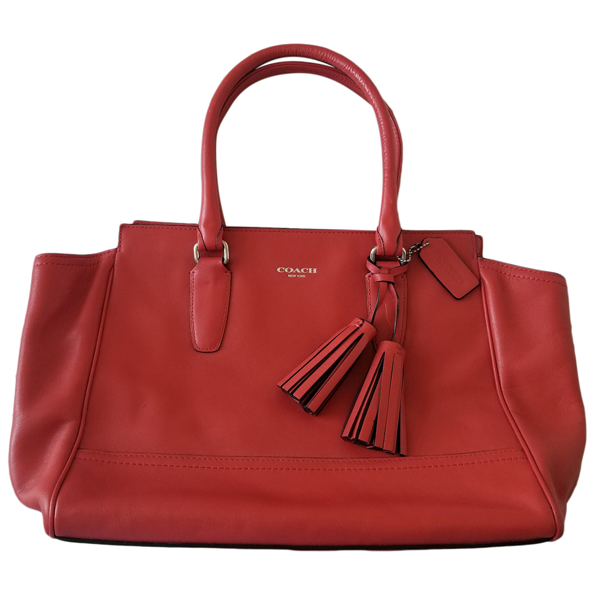 Coach - Sac a main Borough Bag pour femme en cuir - orange