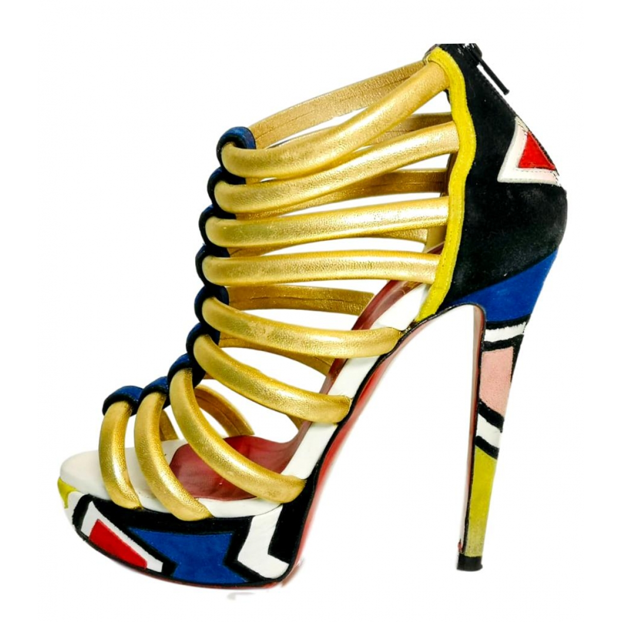 Christian Louboutin \N Multicolour Leather Heels for Women 37 EU