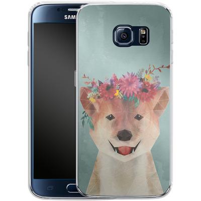 Samsung Galaxy S6 Silikon Handyhuelle - Crown von Little Clyde