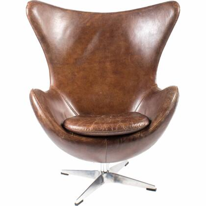 St Anne Collection PK-1005-20 Club Chair with Stainless Steel in Brown