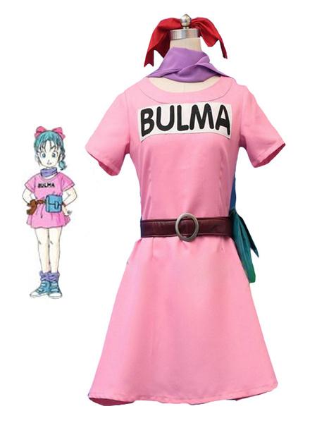 Milanoo Dragonball Z Bulma Cosplay Costume