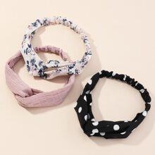 3pcs Polka Dot Pattern Headband