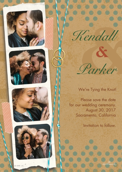 Save the Date 5x7 Cards, Premium Cardstock 120lb with Rounded Corners, Card & Stationery -Scrapbook Photo Strip