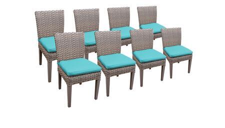 Monterey Collection MONTEREY-TKC290b-ADC-4x-C-ARUBA 8 Side Chairs - Beige and Aruba