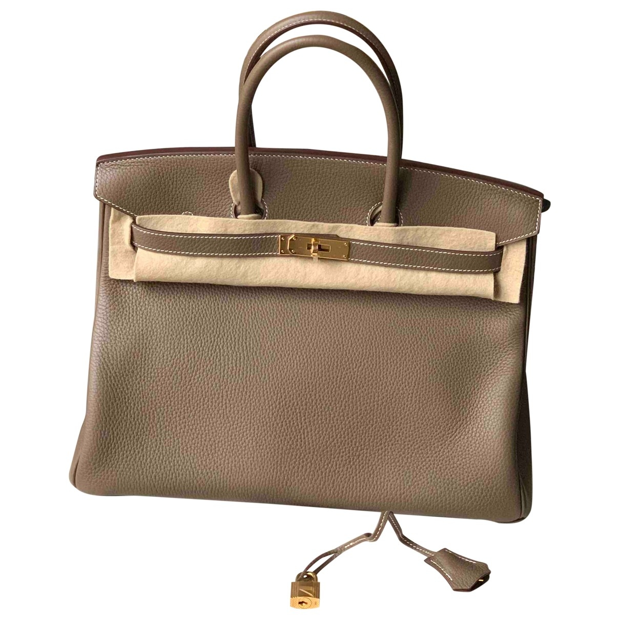 Hermès Birkin 35 Beige Leather handbag for Women \N