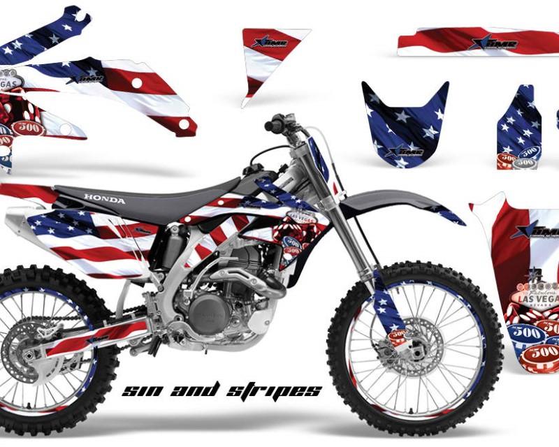 AMR Racing Graphics MX-NP-HON-CRF450R-05-08-SINS Kit Decal Sticker Wrap + # Plates For Honda CRF450R 2005-2008áUSA SINS