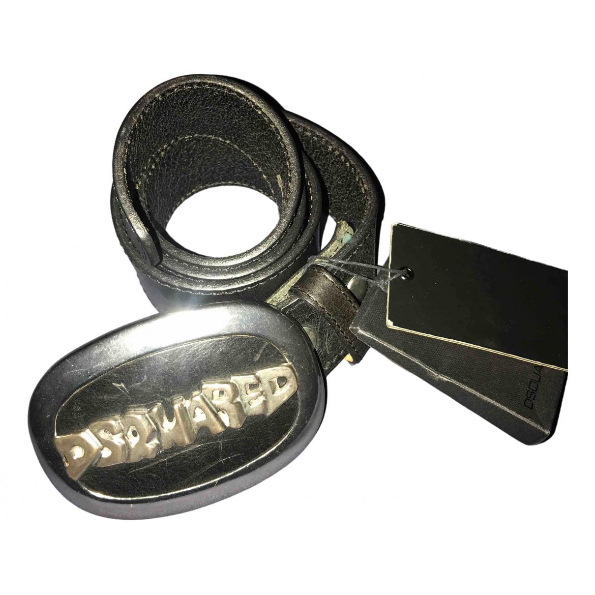 Dsquared2 \N Guertel in  Schwarz Leder
