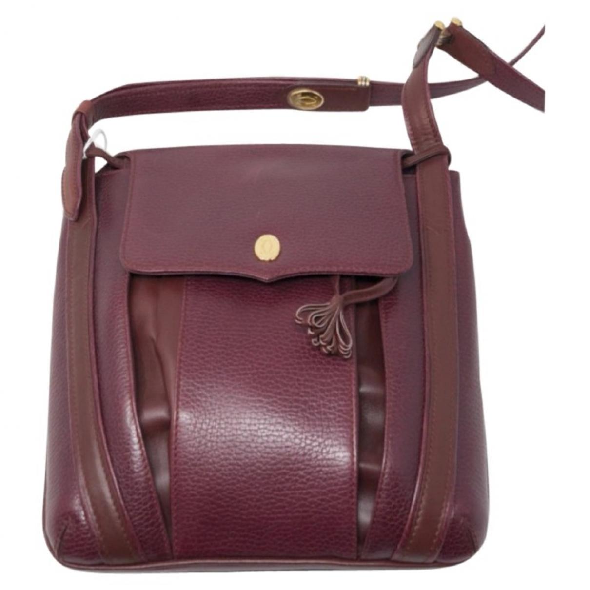 Cartier \N Burgundy Leather bag for Men \N