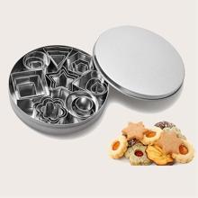 24 piezas molde de galleta de acero inoxidable