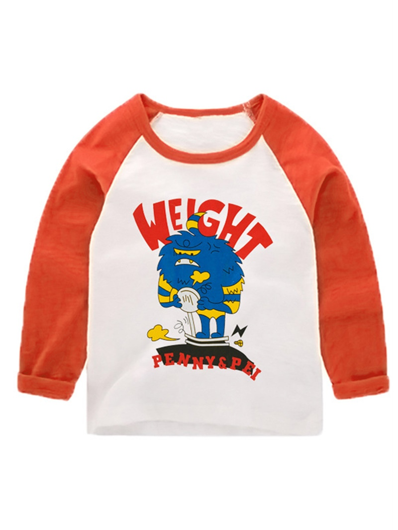 Ericdress Round Neck Letter Print Boy's T-Shirt
