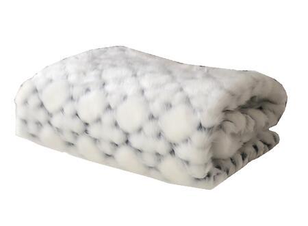 Black & White - Snow Collection PBEZ1663-8090-TC 80L x 90W Twin XL Faux Fur Luxury