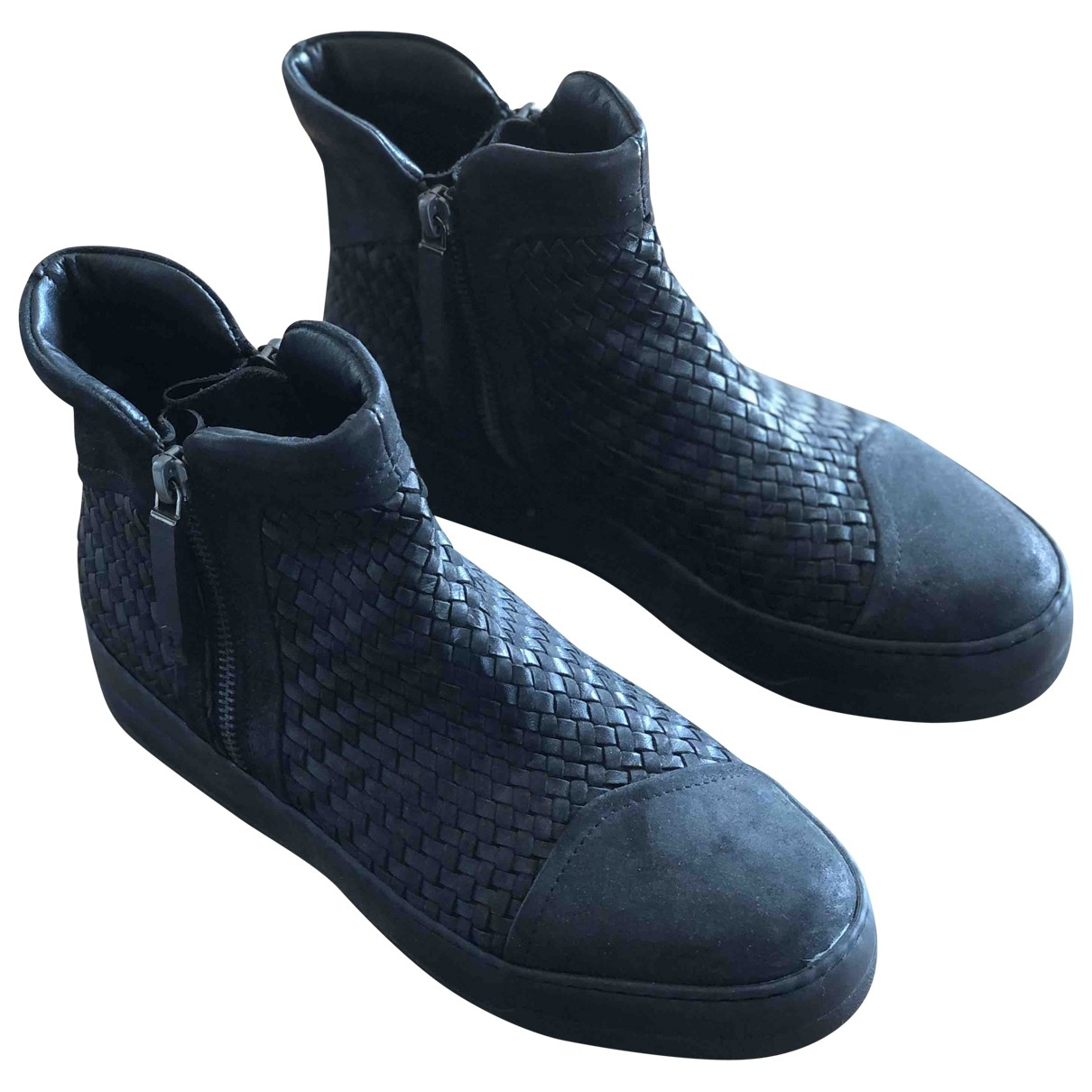 Bruno Bordese \N Black Leather Ankle boots for Women 37 EU