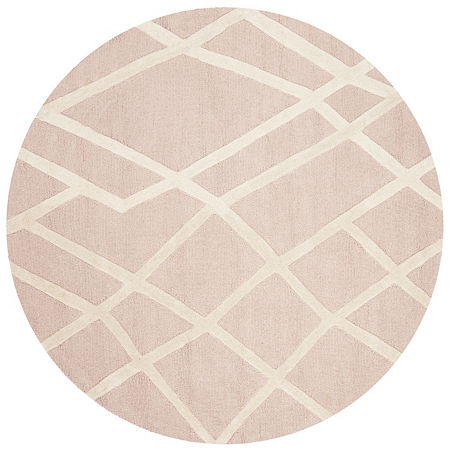 Safavieh Kids Collection Aubree Geometric Round Area Rug, One Size , Multiple Colors