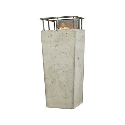 14317/1 Brocca 1 Light Wall Sconce in Silverdust Iron with Concrete
