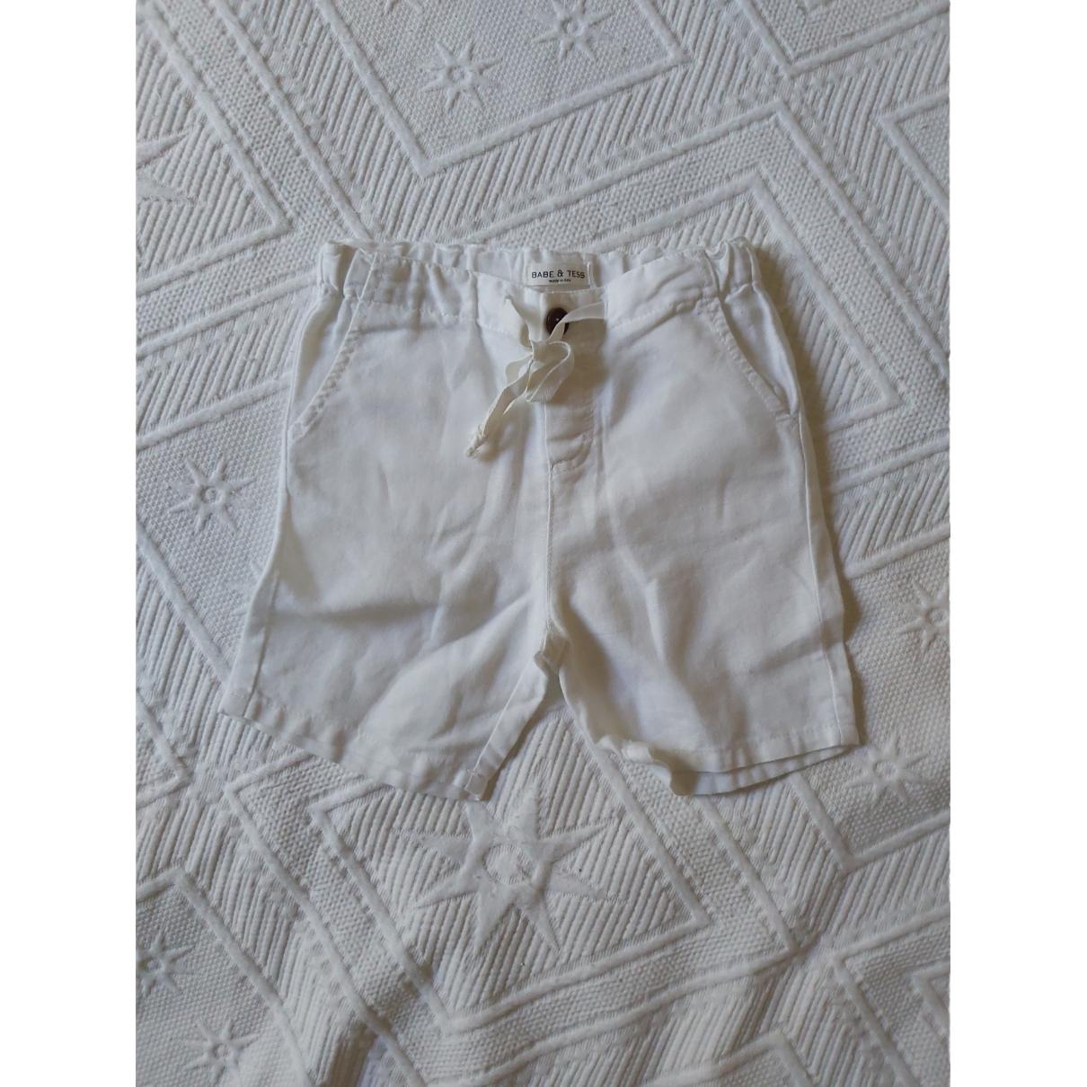 Babe & Tess - Short   pour enfant en coton - blanc