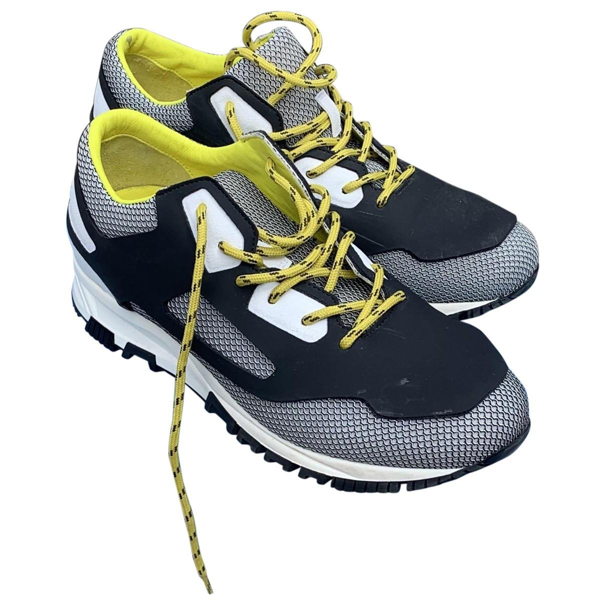 Lanvin \N Sneakers in  Schwarz Leinen
