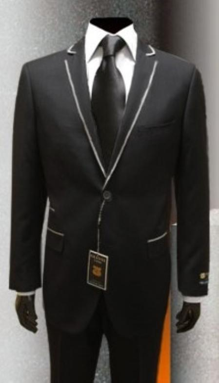 Mens tuxedosMens Tuxedo Black Gianni Uomo with Silver Framed Lapel