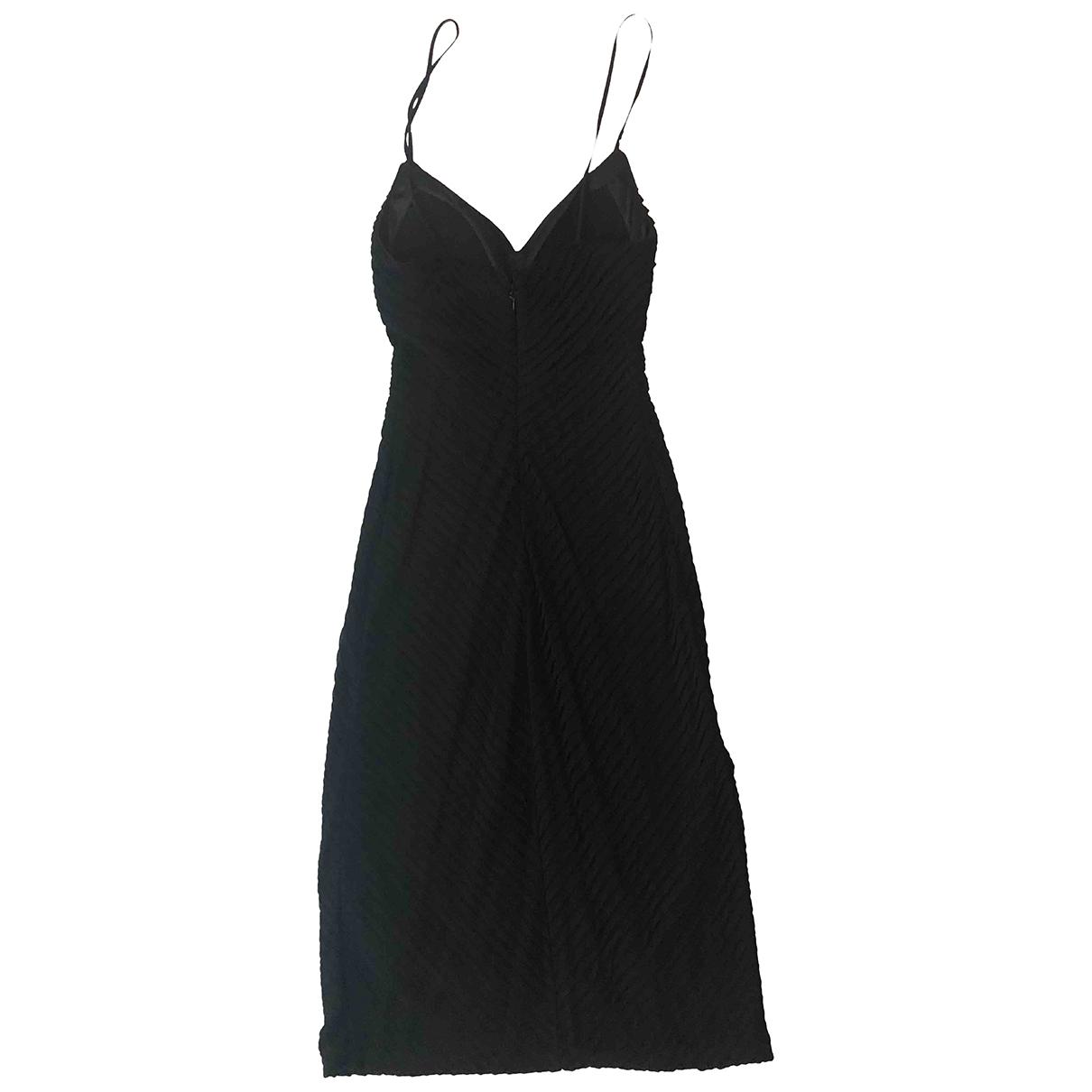 Giorgio Armani \N Kleid in  Schwarz Viskose