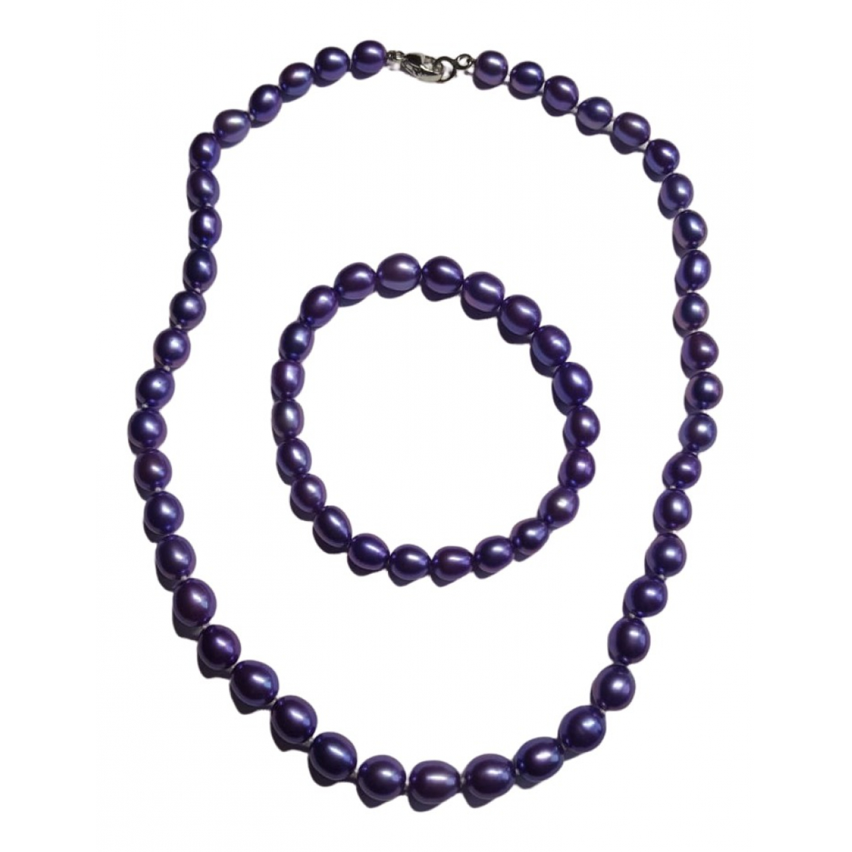 Non Signé / Unsigned N Purple Pearl necklace for Women N