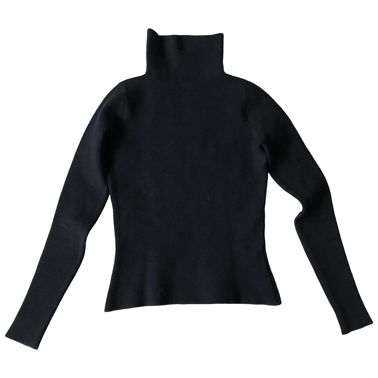 Fausto Puglisi - Pull   pour femme en laine - noir