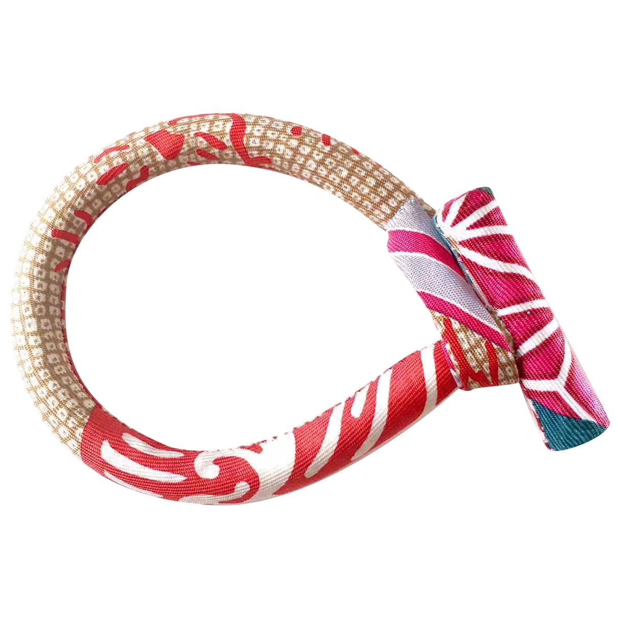 Hermes - Bracelet Petit H pour femme en soie - multicolore