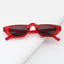 Ring Detail Acrylic Frame Sunglasses