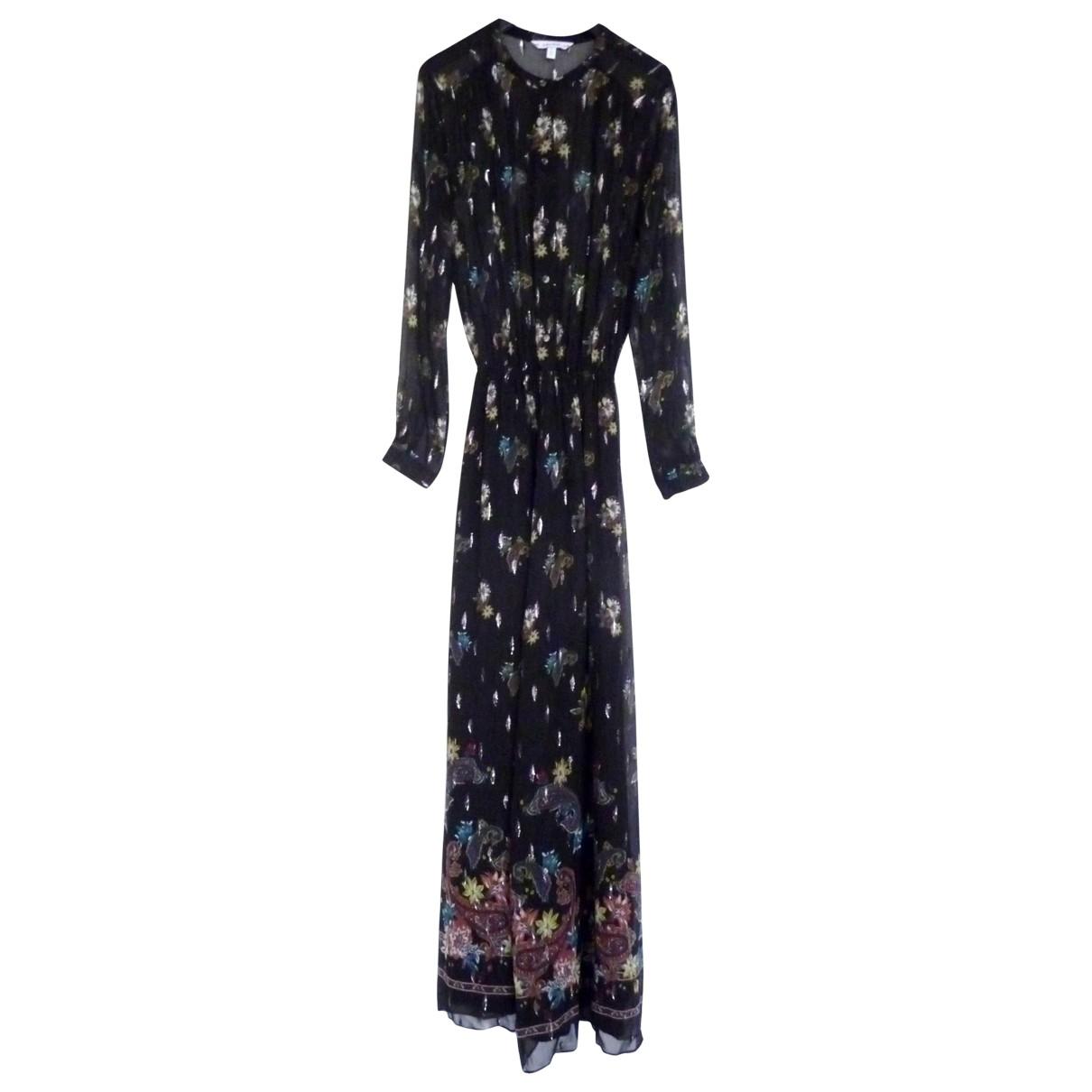 & Other Stories - Robe   pour femme en soie - noir