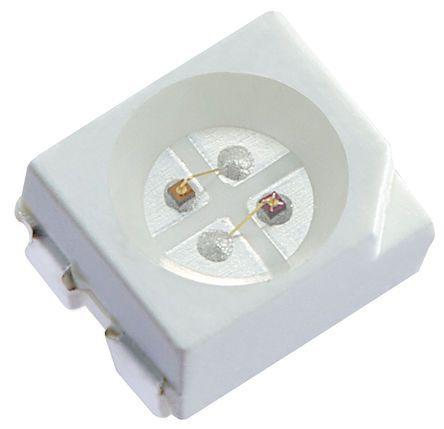 Kingbright 2.5 V Red & Yellow LED PLCC 4 SMD,  KAA-3528SURKSYKS (20)