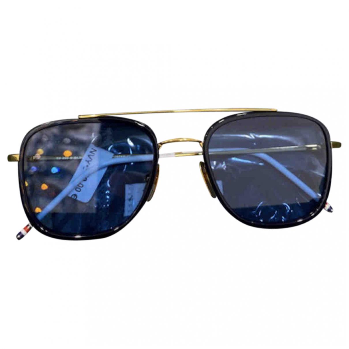 Thom Browne N Navy Metal Sunglasses for Men N